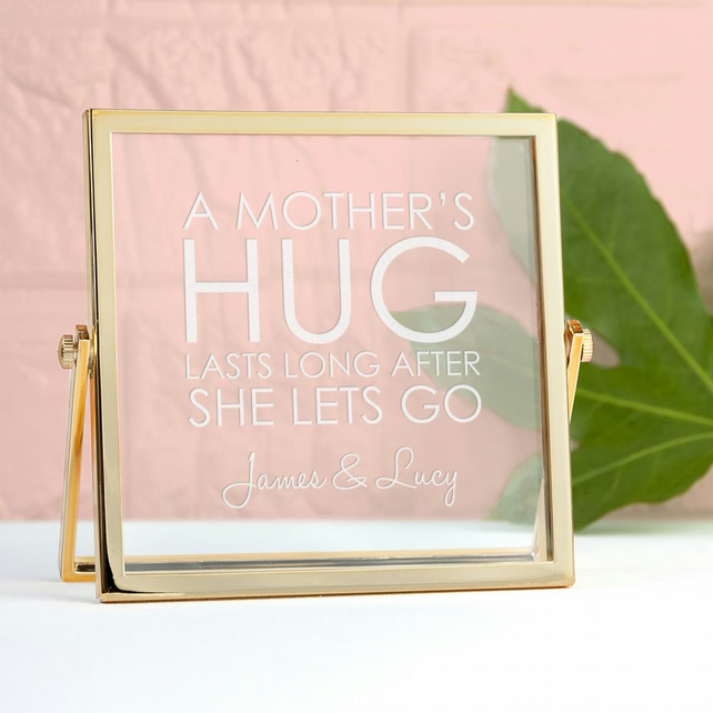 Engraved Never Let Go Gold Frame