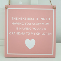 The Only Thing Better Grandma Mothers Day Plaque