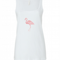 Personalised Flamingo Summer Vest Top