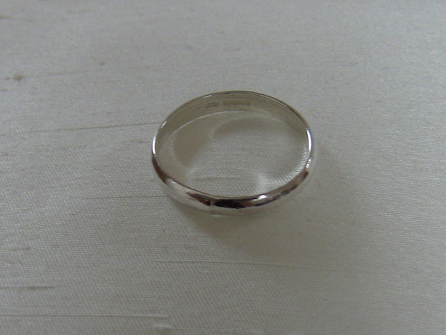Silver Ring, Classic style, size S-T,  Hallmarked
