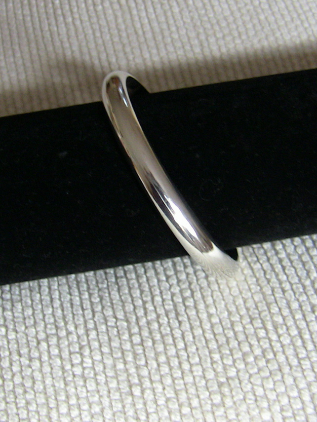Extra-Chunky Sterling Silver Cuff Bangle, Unisex, B20
