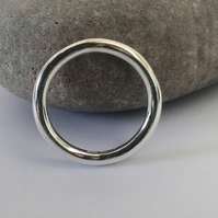 Sterling Silver Ring, Extra-chunky, Unisex, Hallmarked, size U,  R100