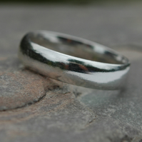 Wide Sterling Silver Unisex Ring, Hallmarked, size T,  R135