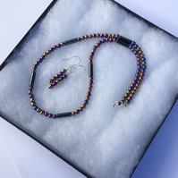 Rainbow Haematite 2-piece Jewellery Set with Sterling Silver,  S9