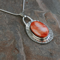 Sterling Silver Pendant with Spiny Coral,  P161