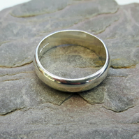 Silver Ring, classic style, large size, Man's ring
