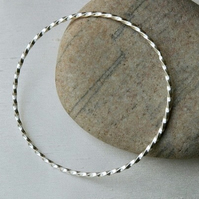 Twisted Sterling Silver Stacking Bangle