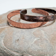 Child's Copper Cuff Bangle, Hammered