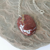 Fossilised Wood Pendant with Sterling Silver Chain