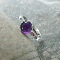 Sterling Silver Ring with Amethyst Gemstone