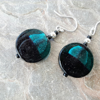 Sterling Silver and Glass Bead Drop Earrings