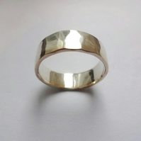 Silver and Gold male wedding band