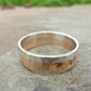 Red and white gold male wedding band