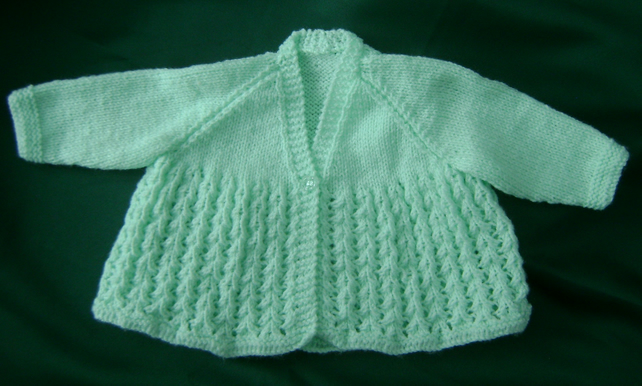 Sweet, Vintage Style Mint Green Matinee Coat for baby 3-6 months