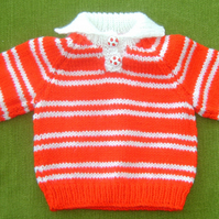 Striped Acrylic Jumper For 3-6 months.