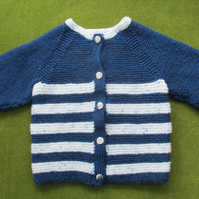 Striking Navy and White Jacket Cardigan for 18-24 months.