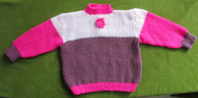 Shades of Pink Jumper for age 2-3 years.