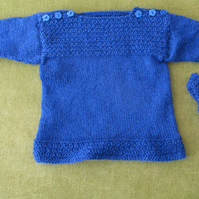 Gorgeous Sparkly Blue Jumper and matching hat, for 12-18 months.