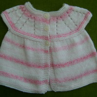 Pretty Cap Sleeved Cardigan in Shades of Pink for 6 -12 months.