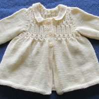 Delicious Cream Vintage Style Cardigan for baby 6 -12 months