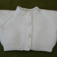 Fresh, Pure White Cardigan for 0-3 months
