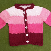 Pretty Shades of Pink Cardigan. For age 6-12 months