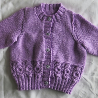 Beautiful Heather Coloured Cardigan with Cable details. Age 2-3 years.