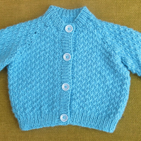 Sweet Blue Cardigan in Lovely Stitch for 3-6 months
