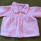 Pretty Creamy Pink Vintage Style Cardigan-Jacket with Smocking For 6-9 months.