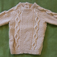 Adorable Cable Jumper in Honey Beige. For 18 months.