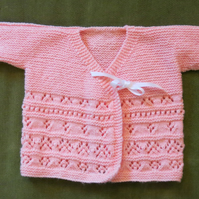 Gorgeous Apricot Wrap-over Kimono Style Cardigan. For age 9-12 months