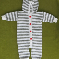 Gorgeously Cute Onesie in Grey & White Stripes. For 1 -2 years.