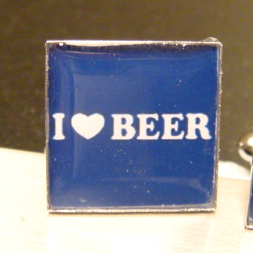 I Love Beer Cufflinks
