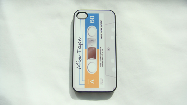Retro Mix Tape cassette iphone 4 and 4s cover
