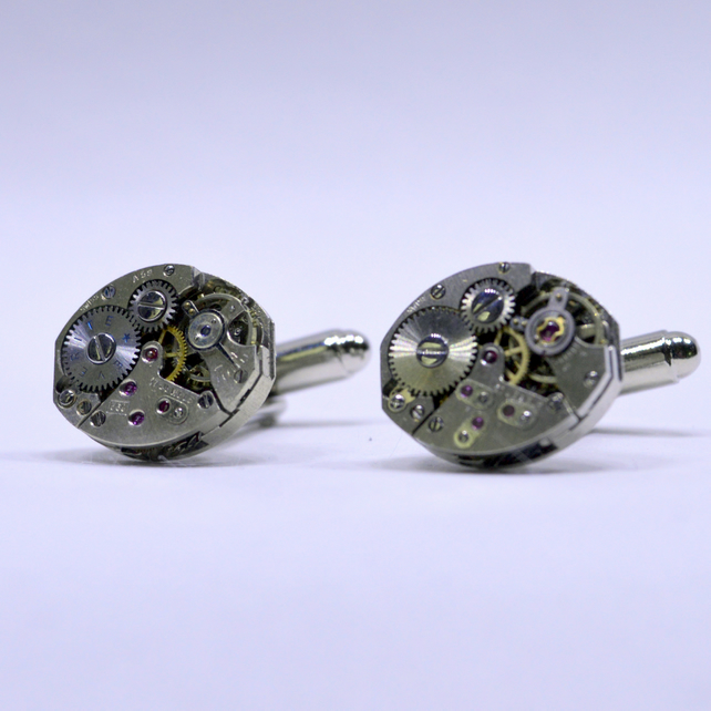 Watch movement cufflinks 153