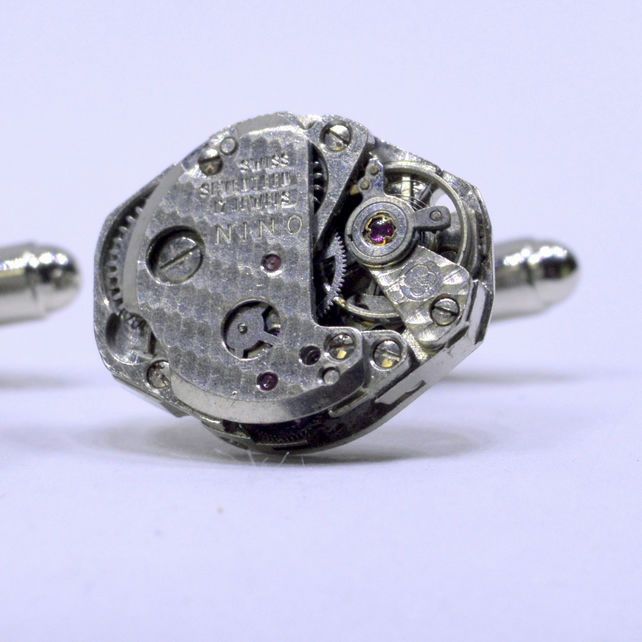 Oval watch movement cufflinks 165