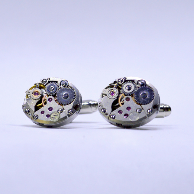 Watch movement cufflinks 166
