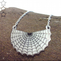 Spooky Spiderweb necklace