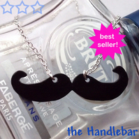 Moustache necklace - choose your style! - £1 to Prostate Cancer Charity
