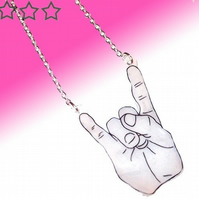 Happy Hands necklace - Devil Horns hand sign