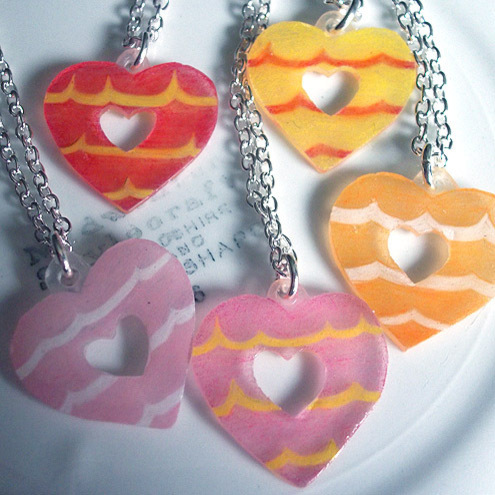 Party Ring Heart Pendant