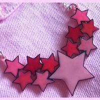 Star Cluster Necklace - Pink