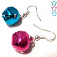 Christmas Jingle Bell Earrings - choose your colour!