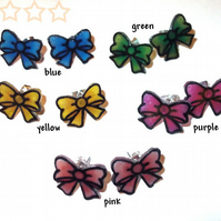 Mini Bow Stud Earrings