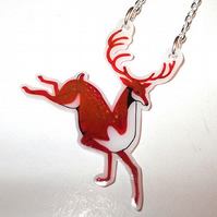 Prancing Reindeer necklace