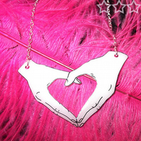 Happy Hands necklace - Heart (#2)