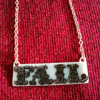 FAIL / WIN Double Sided Reversible Word Pendant