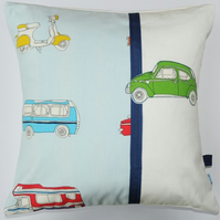 Boys retro cars cushion