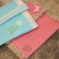 Pretty Felt and Cotton Purse