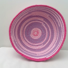 Candy Stripes Coiled Fabric Bowl